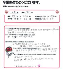 耳ツボダイエットをされた患者様の声 - 徳田多美子さん 69歳  女性